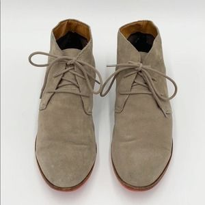 Dolce Vita Suede Flat Lace Up Booties in Size 9.5